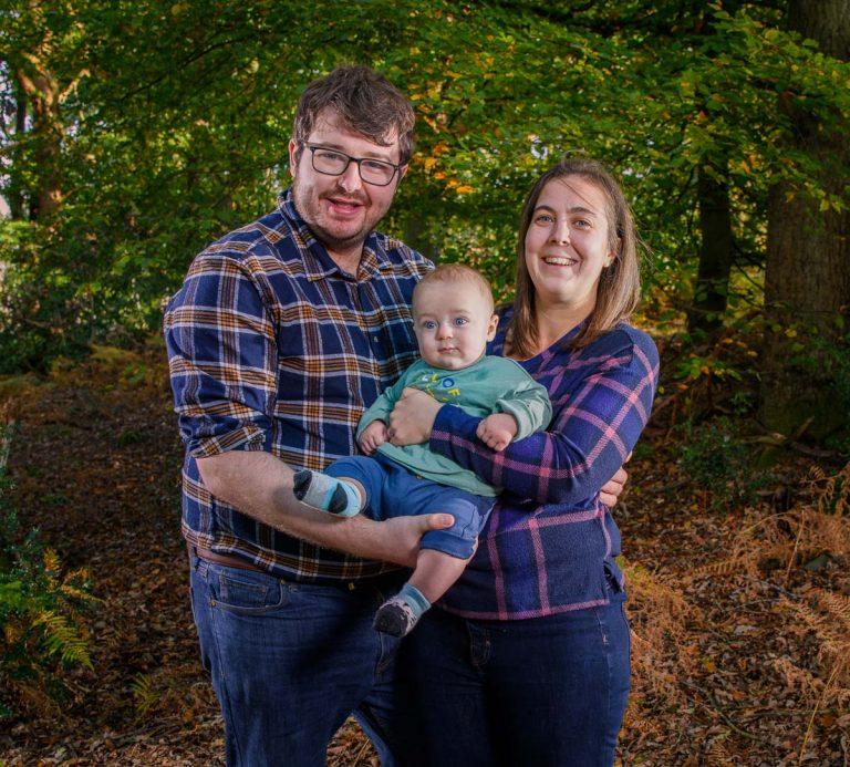 Family Portrait in Woods -David P. Stewart Milton Keynes Family Photographer