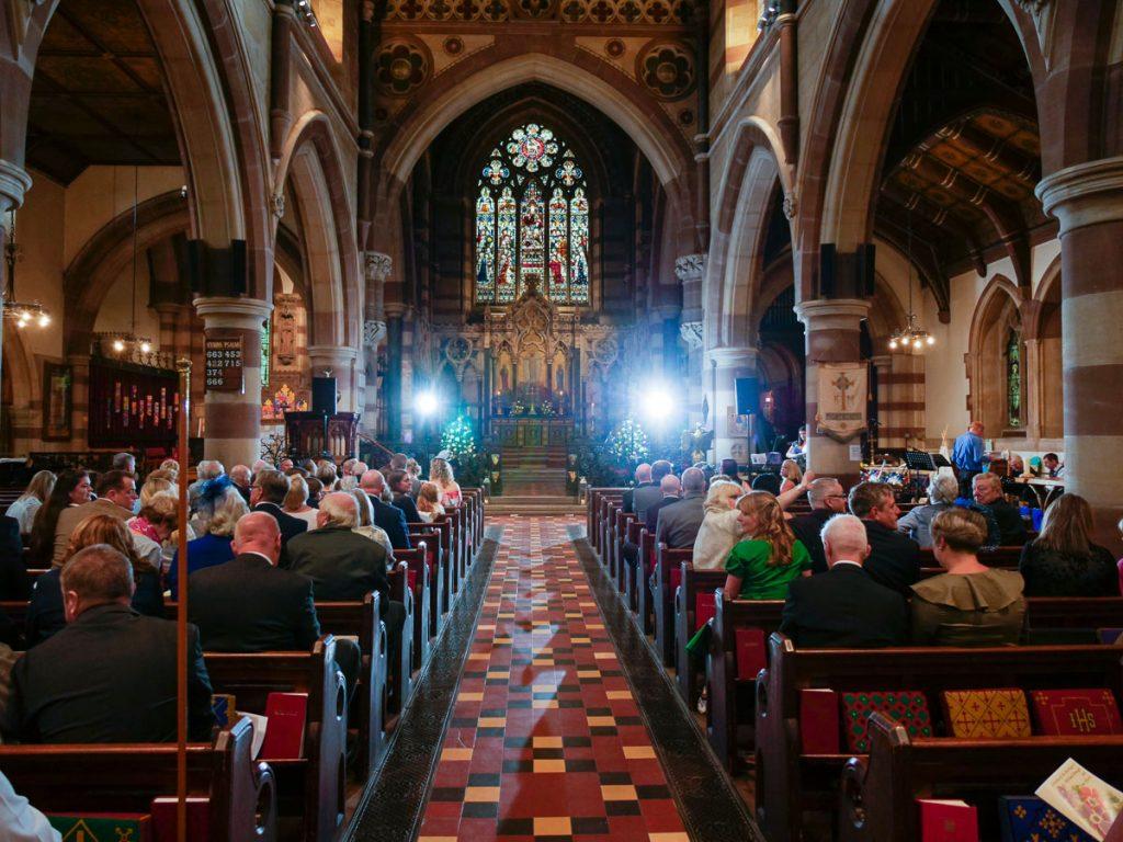 church strobe test by Milton Keynes Wedding Photographer
